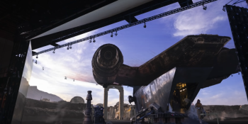 ILM used Unreal Engine to build virtual sets that it then projected onto giant LED walls.