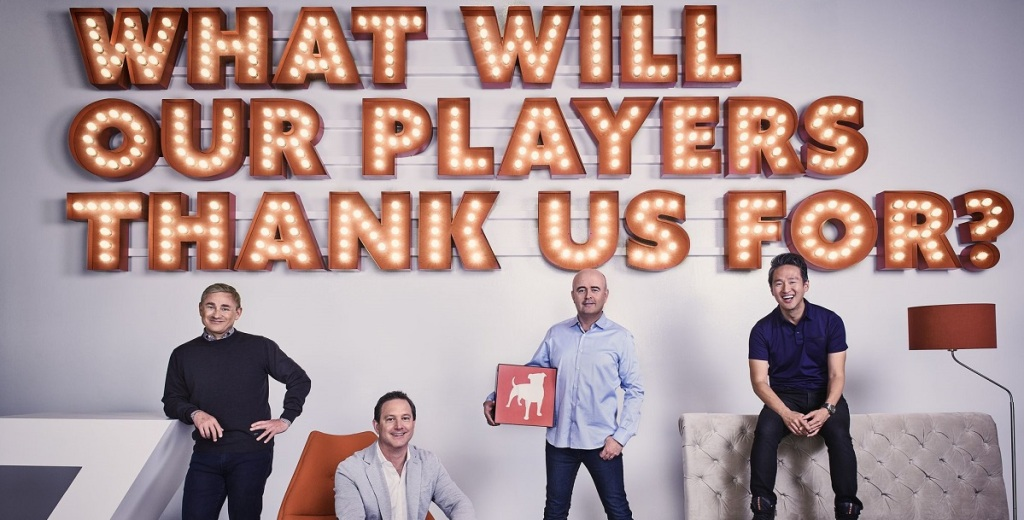 The leaders of Zynga. CEO Frank Gibeau, Matthew Blom
