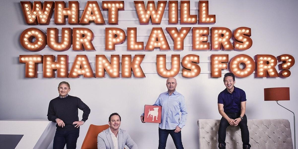 Zynga's leaders. CEO Frank Gibeau, Matthew Blom