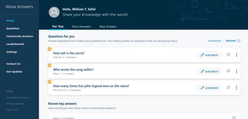 Amazon Alexa Answers