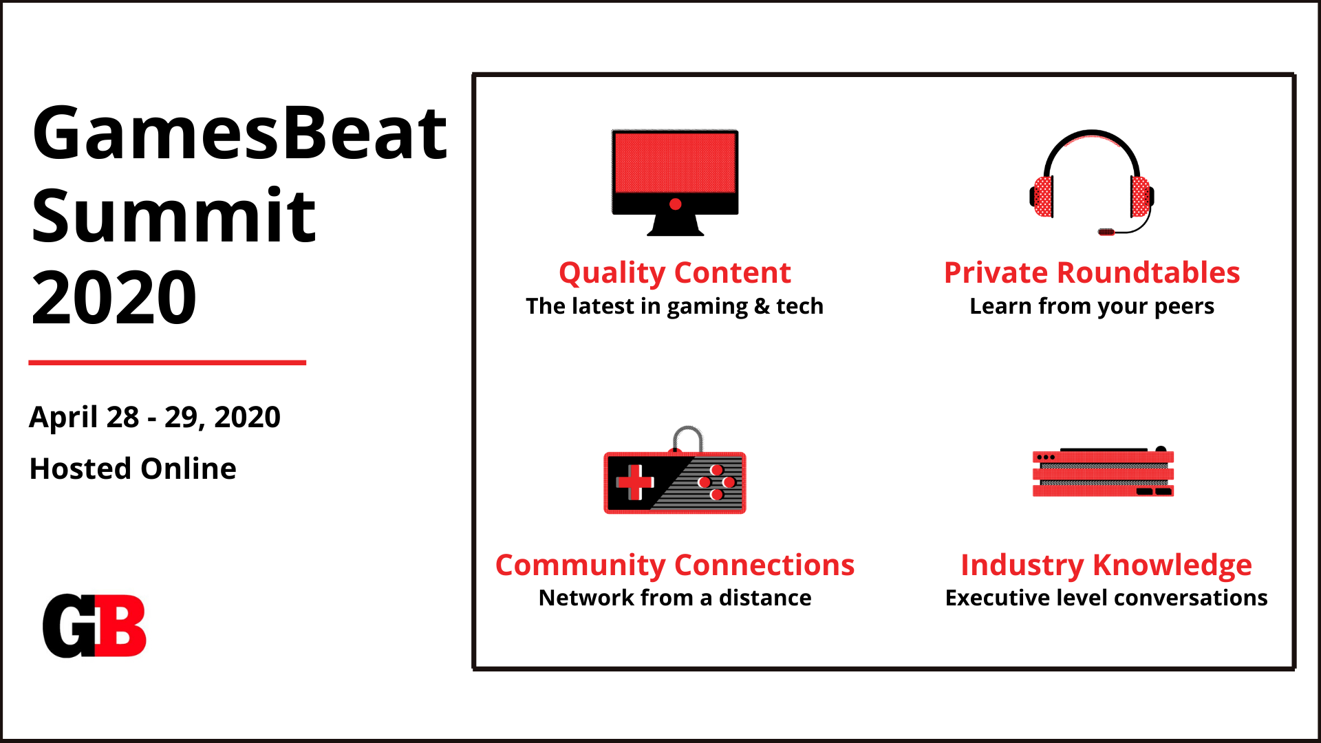 GamesBeat Summit: Featuring 100 gaming leaders online
