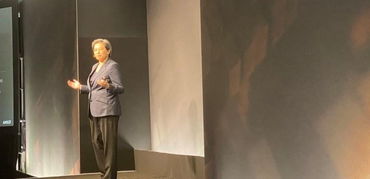 Lisa Su, CEO of AMD, at 2020 analyst meeting.