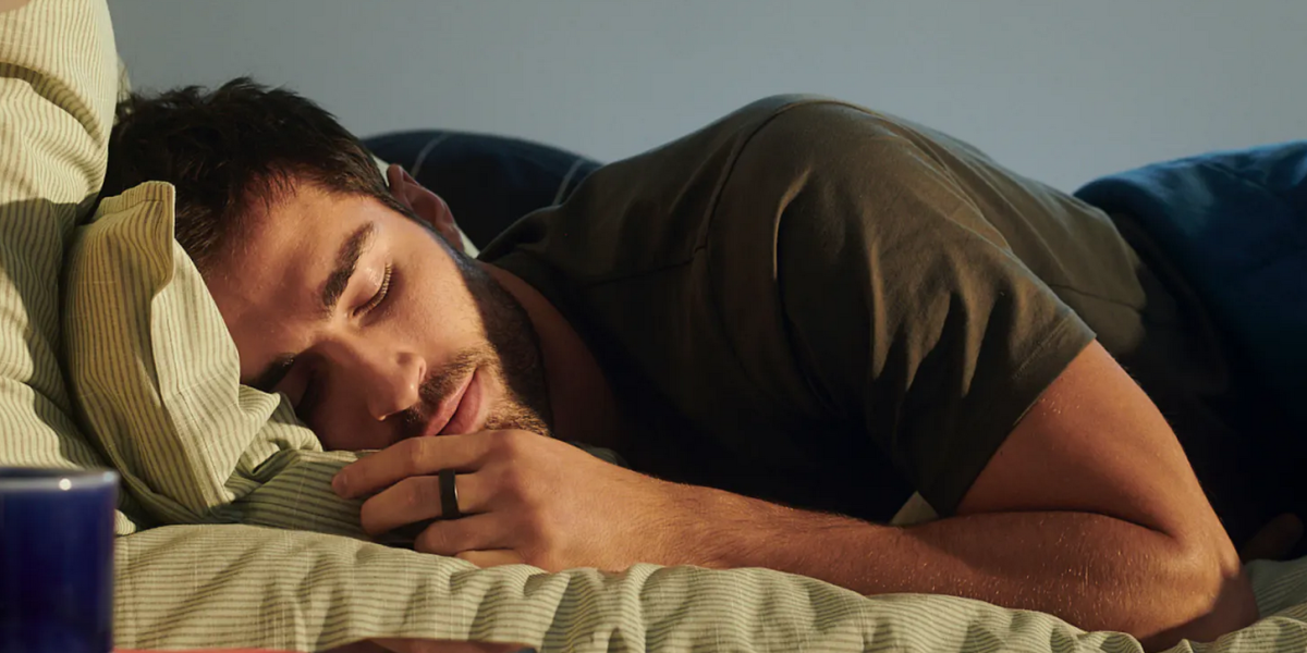 Oura smart ring tracks sleeping habits