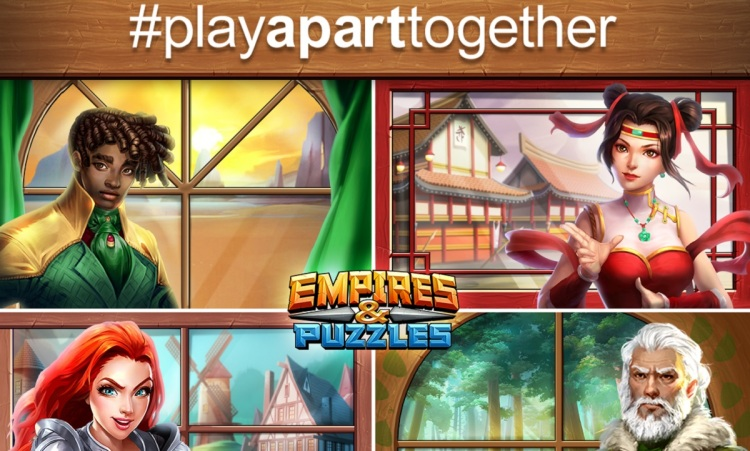 PlayApartTogether is an effort by WHO and game companies.