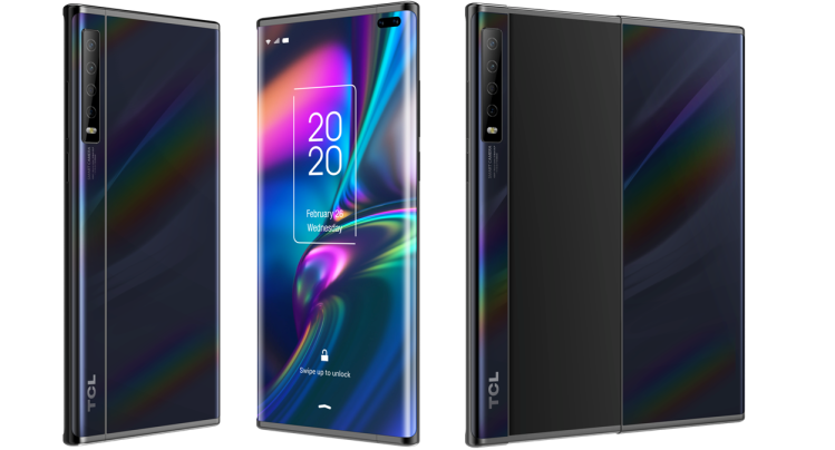 """TCL's """"rollable"""" display concept smartphone"""
