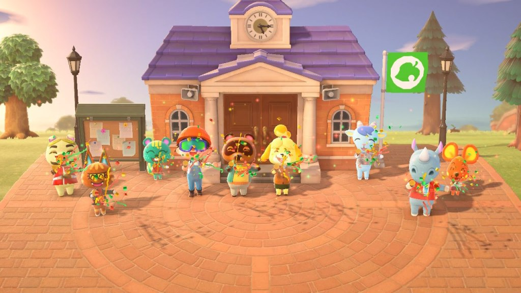 Time to celebrate in Animal Crossing: New Horizons.