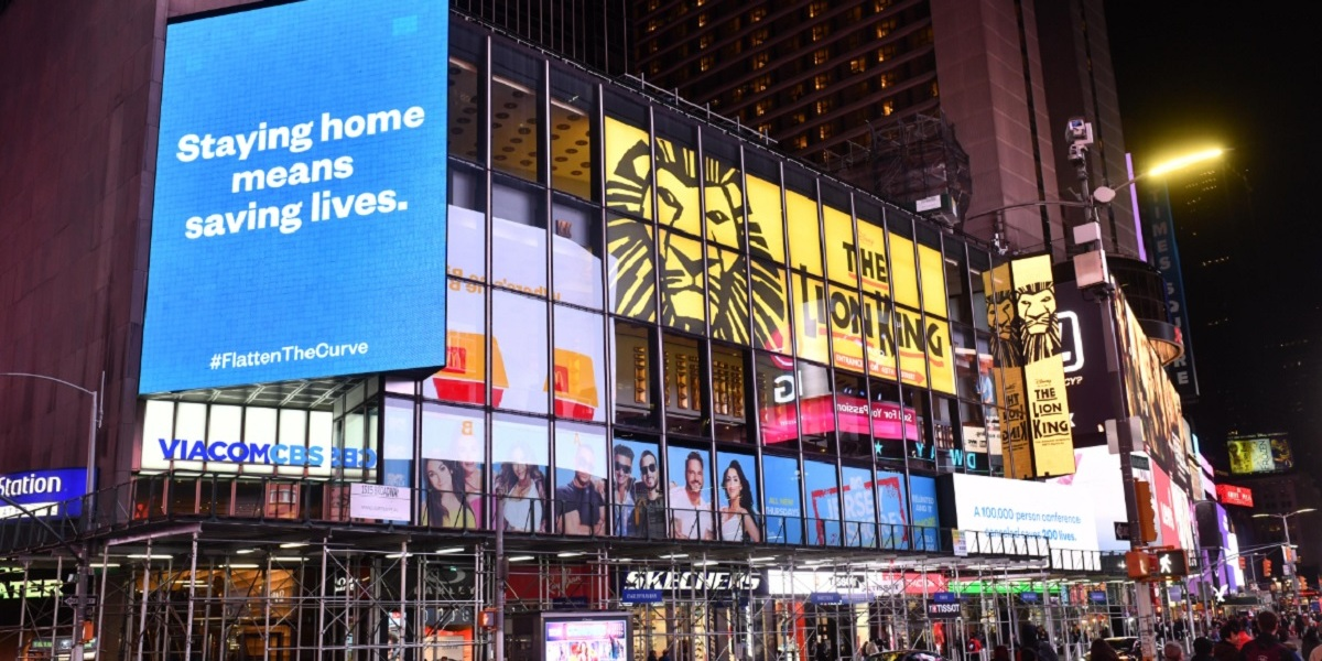 Alexis Ohanian, founder of Reddit, posted this billboard in Times Square on the weekend of March 10.