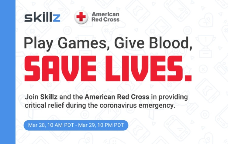 Skillz is running mobile game tournaments to raises money for the Red Cross.