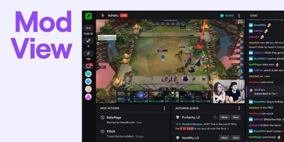 Twitch launches moderator views for easier monitoring of livestreams.