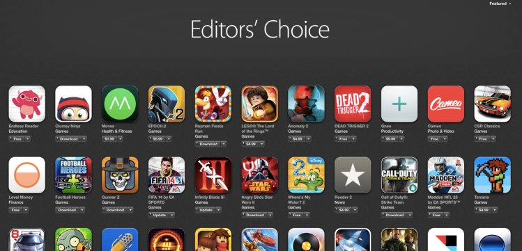 A snapshot in time of the Apple App Store's Editors' Choice picks.