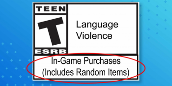 Here's what the ESRB's loot box warning label looks like