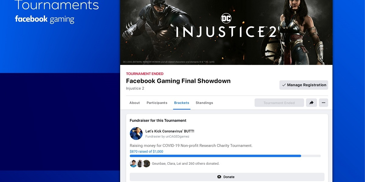 Facebook Gaming tournaments make it easy to gather friends to compete.