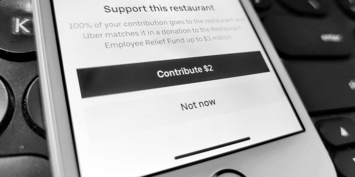Uber: Restaurant contribution