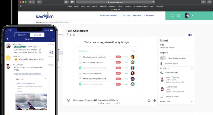 WorkJam platform