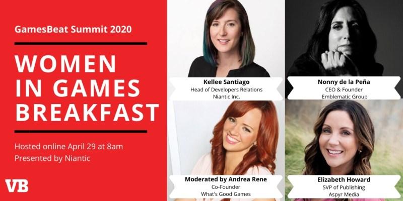 Women in games breakfast at GamesBeat Summit Digital.