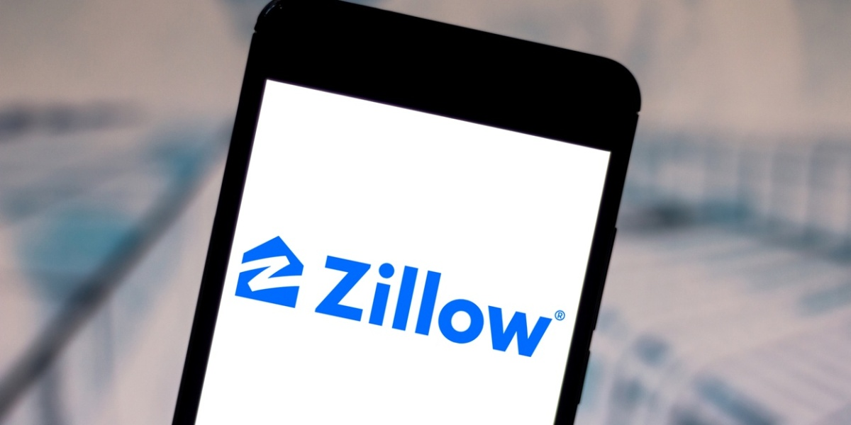 Zillow Group logo displayed on a smartphone.