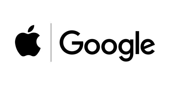Apple and Google logos