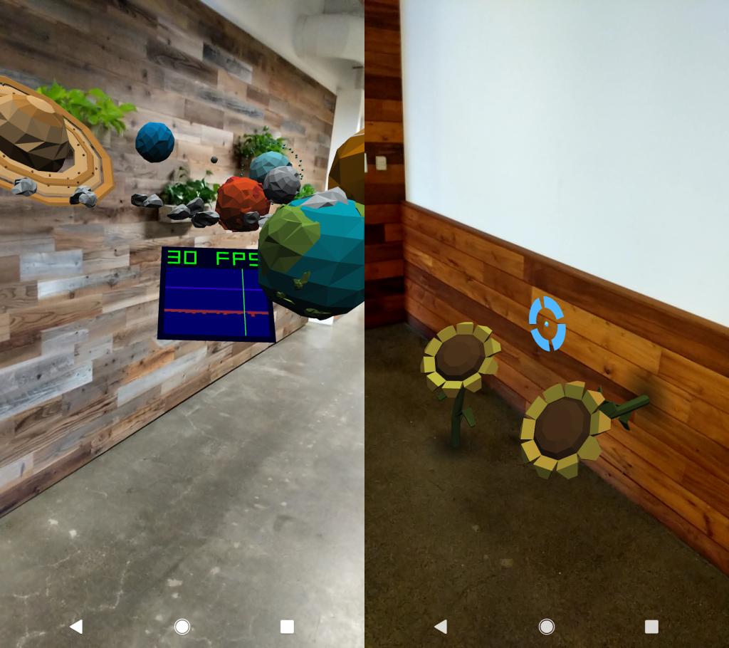 Chrome WebXR Device API augmented reality