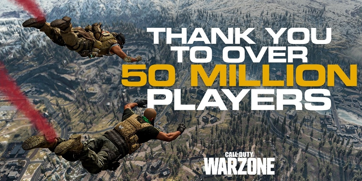 Call of Duty: Warzone has hit 50 million players.