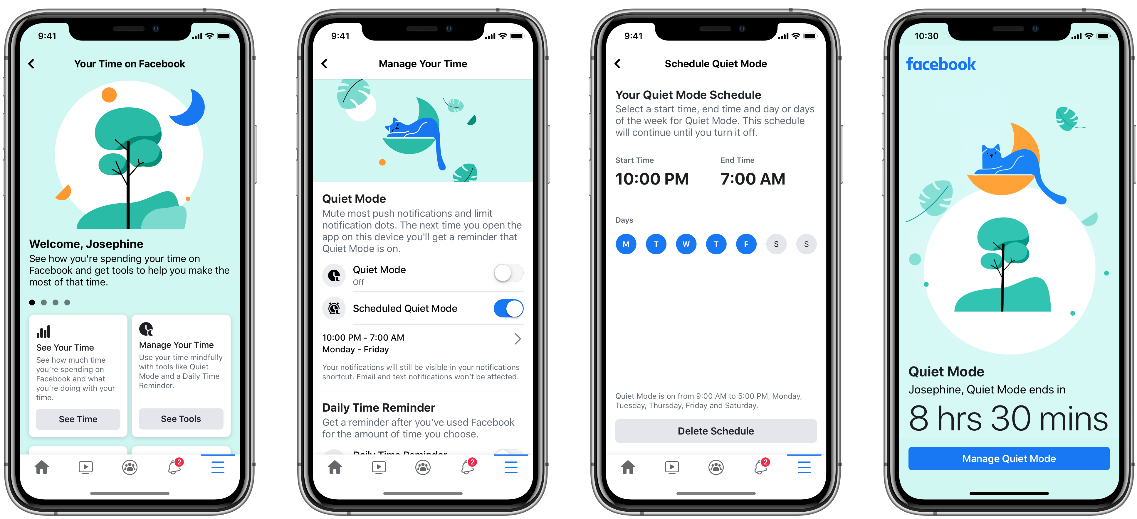 Facebook launches Quiet Mode for muting alerts and scheduling ...