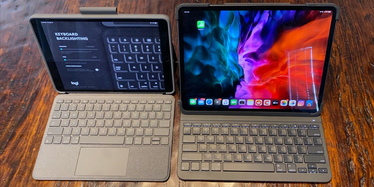 Logitech's new Combo Touch adds both a trackpad and a keyboard to three different iPad models, while its Slim Folio Pro for iPad Pro only adds a keyboard.