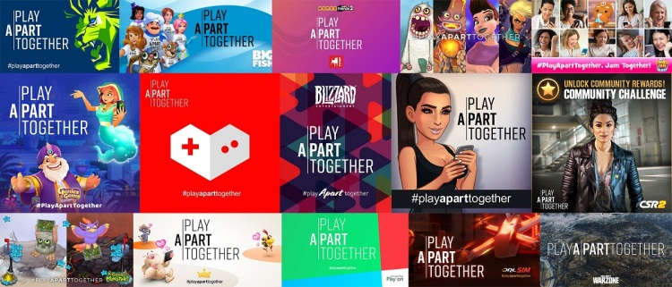 Game companies that have joined PlayApartTogether.