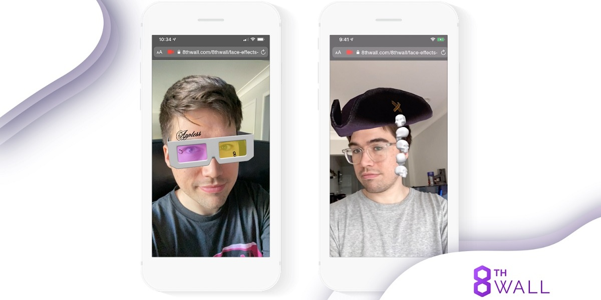 8th Wall is launching face effects augmented reality .
