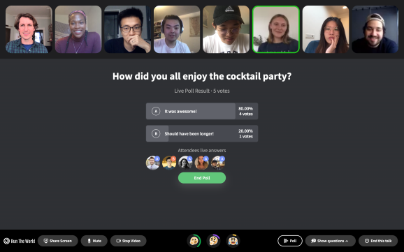 Cocktail Party on Web (Run The World)