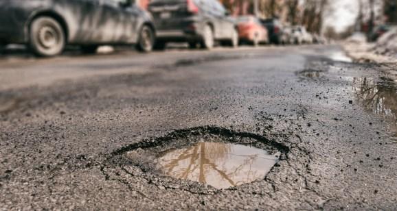 Large pothole