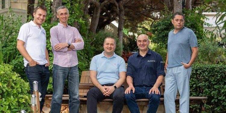 From left to right: Runa Capital partners Dmitry Galperin, Dmitry Chikhachev, Andrey Bliznyuk, Sergei Beloussov and Ilya Zubarev.