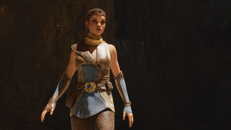 This Lara Croft-like character is not a glimpse at the next Epic Games title.