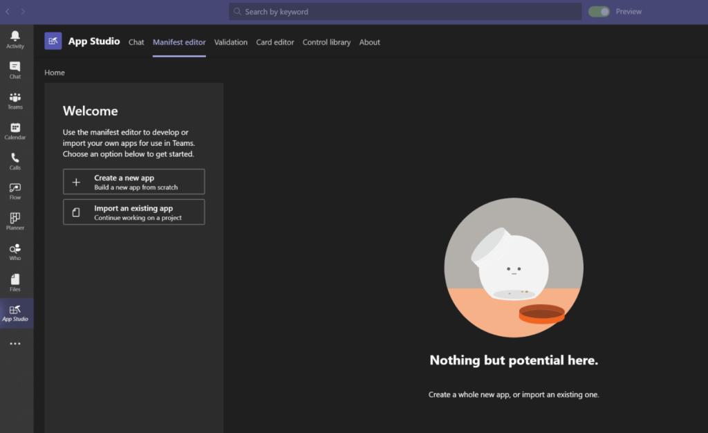 App Studio from Microsoft Teams