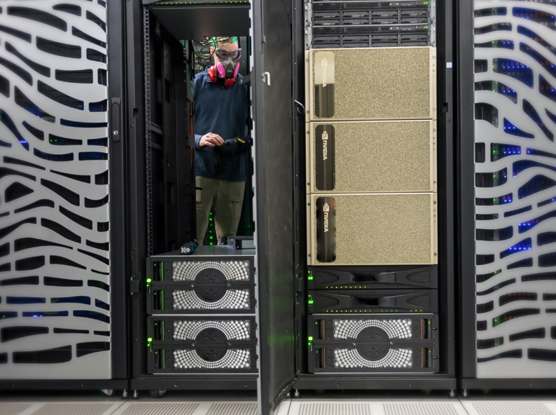 DGX A100 servers in use at Argonne National Lab.