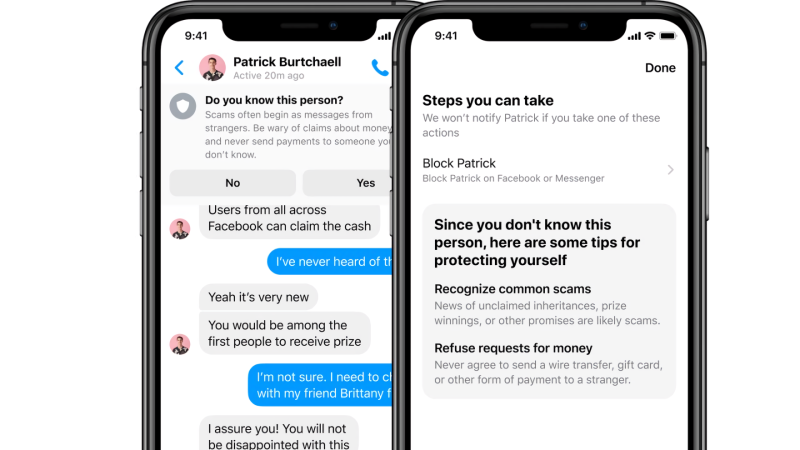 Facebook Messenger AI notifications