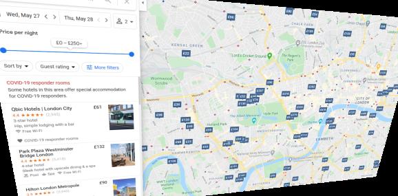 Google Maps: COVID-19 responder rooms
