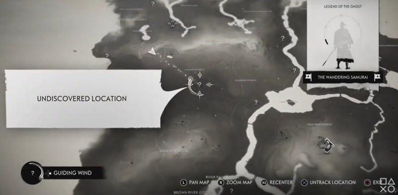 The map of Tsushima