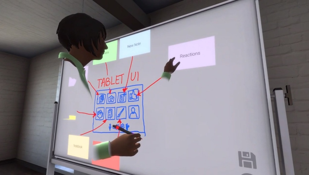 MeetInVR gives you virtual white boards.