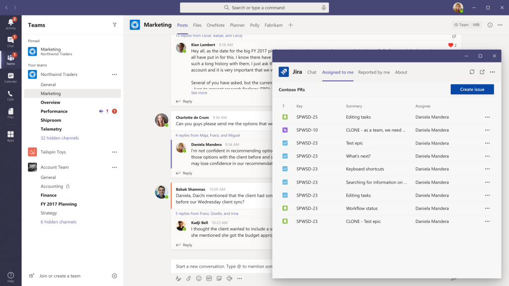 Microsoft Teams pop-out apps and tabs