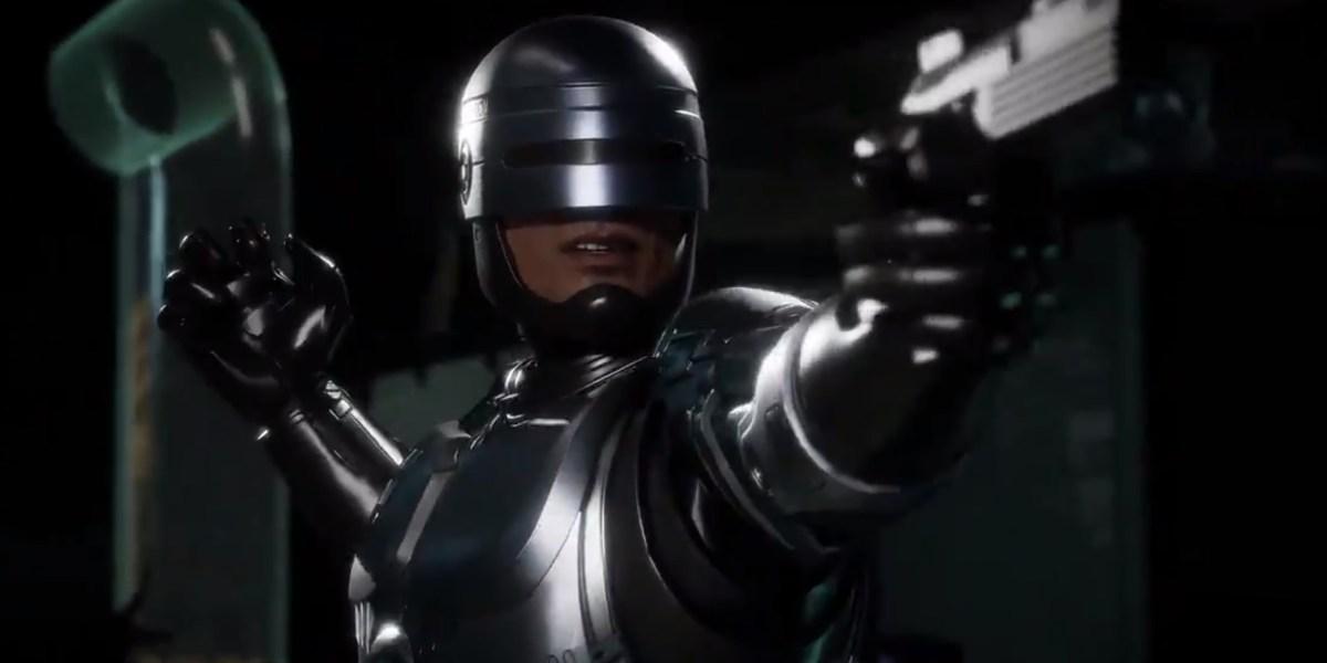 RoboCop in Mortal Kombat 11.