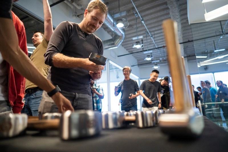 Handing out sledgehammers at Sledgehammer Games