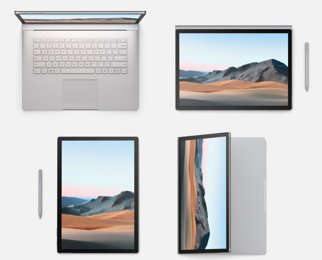 Surface Book 3 from different angles