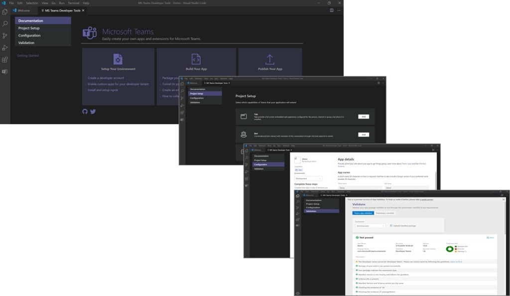 Visual Studio extension for Microsoft Teams