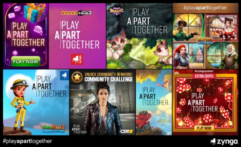 Zynga is part of the #PlayApartTogether campaign to boost the WHO.