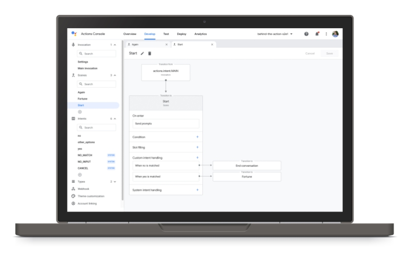 Google Assistant Actions Builder