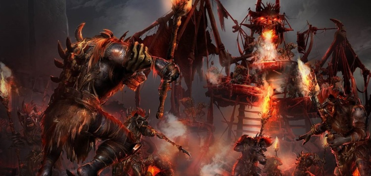 Is this a gnoll camp or a twisted, demonic carnival?