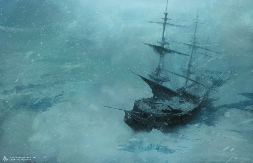I bet there's one helluva mystery hiding in the bowels of this icy shipwreck.