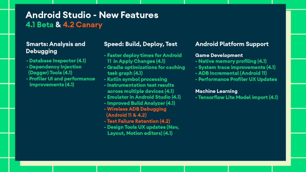 New features in Android Studio 4.1 Beta and Android Studio 4.2 Canary