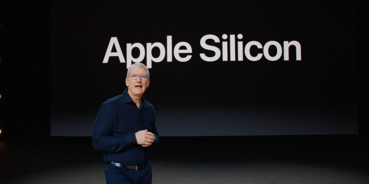 Tim Cook announcing Apple's transition to ARM-powered Mac computers