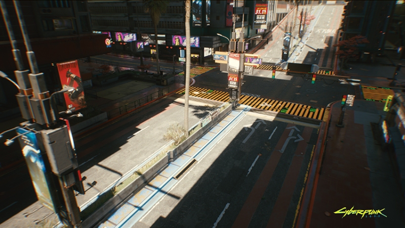 RTX enables the shadows to move dynamically with the sun.