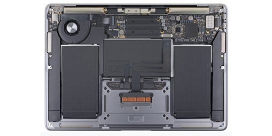 "The internals of a 13"" MacBook Air (2020 model shown) will likely look dramatically different with an Apple-developed CPU."